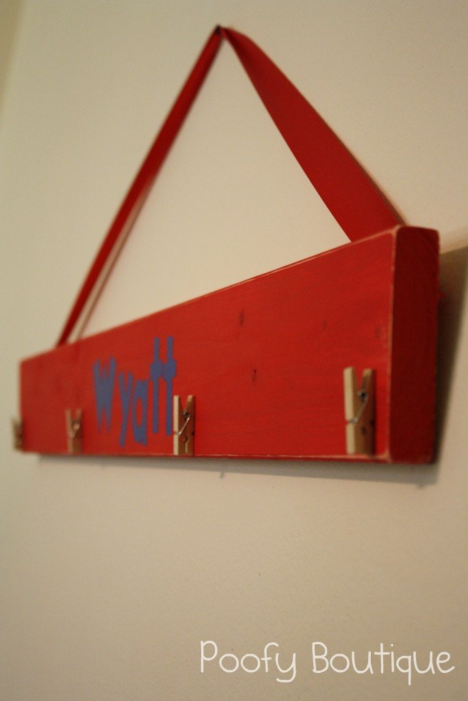 Clothespin Art Display Board Tutorial