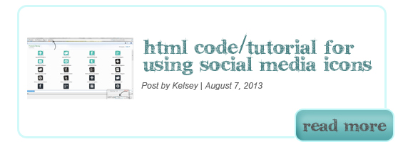 HMTL Code Tutorial for Social Media Icons