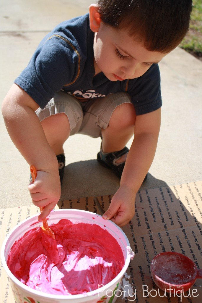 Homemade Sidewalk Chalk Tutorial