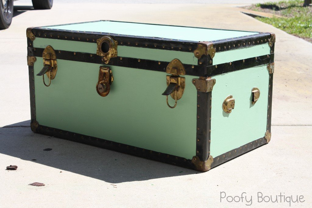 Trunks to paint colouring pages - How to paint an old trunk ...